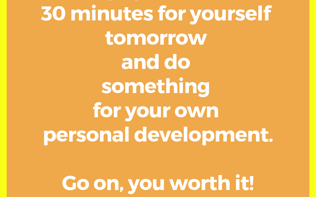 Do You Schedule Time for Yourself?